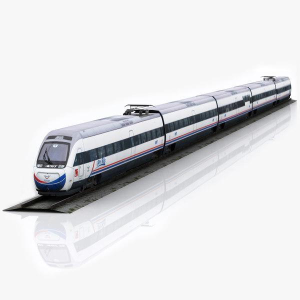3d model yht tcdd train