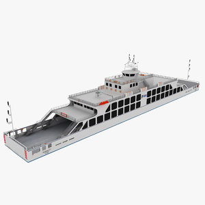 realistic ferry boat 3d max