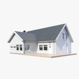 3d realistic house model