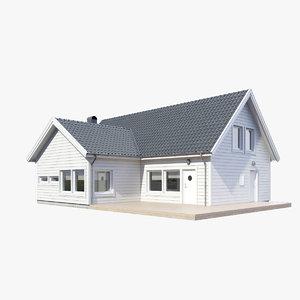 3d realistic house model