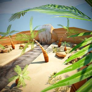 3d 3ds cartoon desert