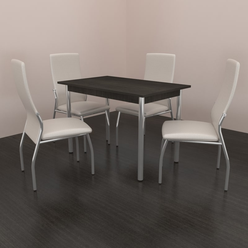 dining set kitchen table 3d model