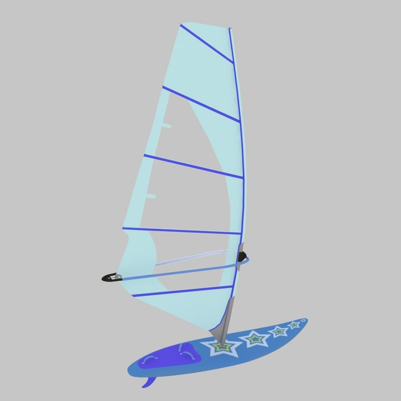 windsurfing freestyle board 3d max