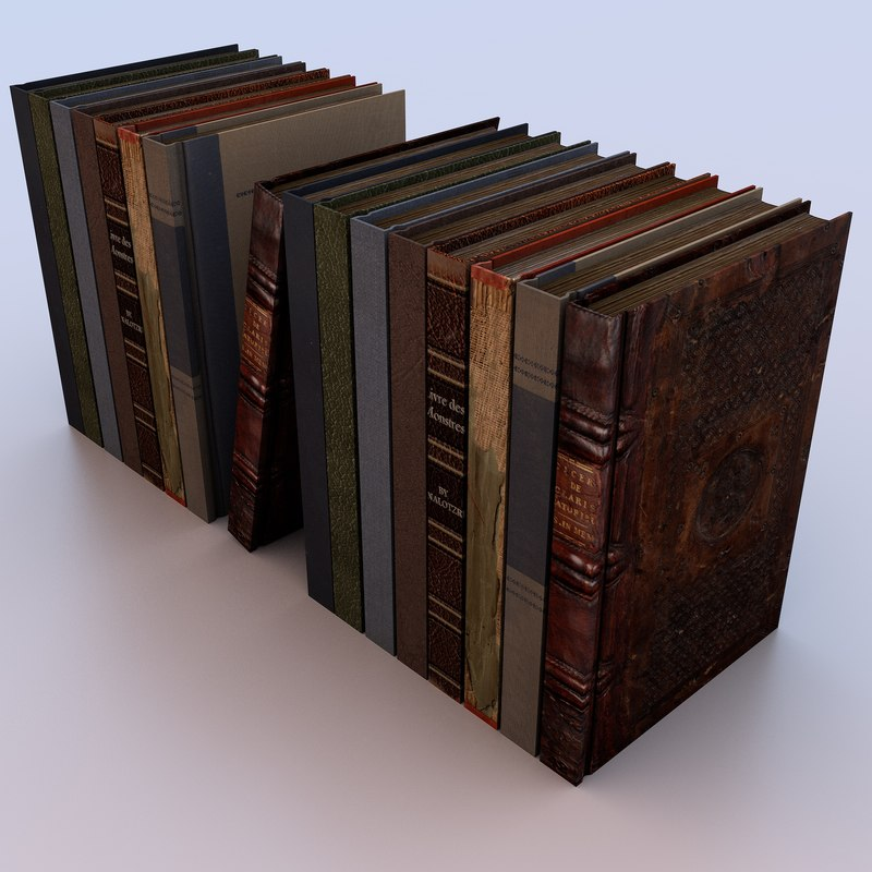 book page 3d model