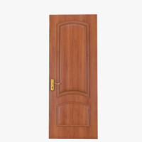 3dsmax simple wooden door