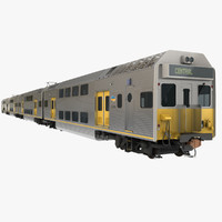 3d model city rail k set