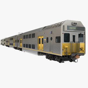 3d model city rail k set