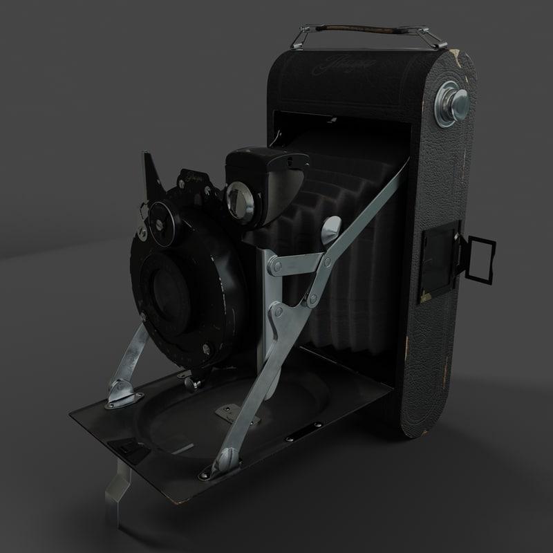 real antique camera 3d model