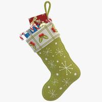 3d christmas sock 03