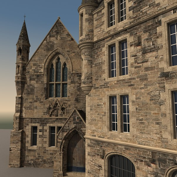 buildings european edinburgh 3d max