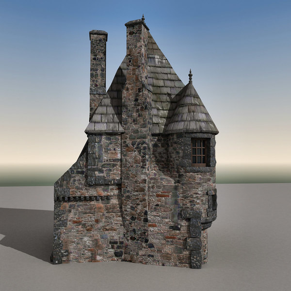 3d model house edinburgh scene