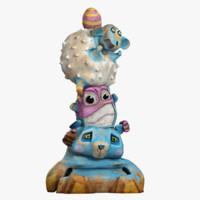 3d max toy animal totem