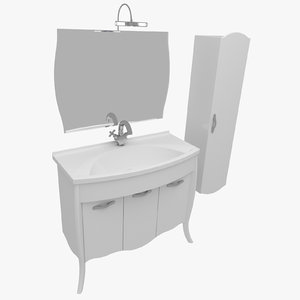 3d bathroom furniture house home model