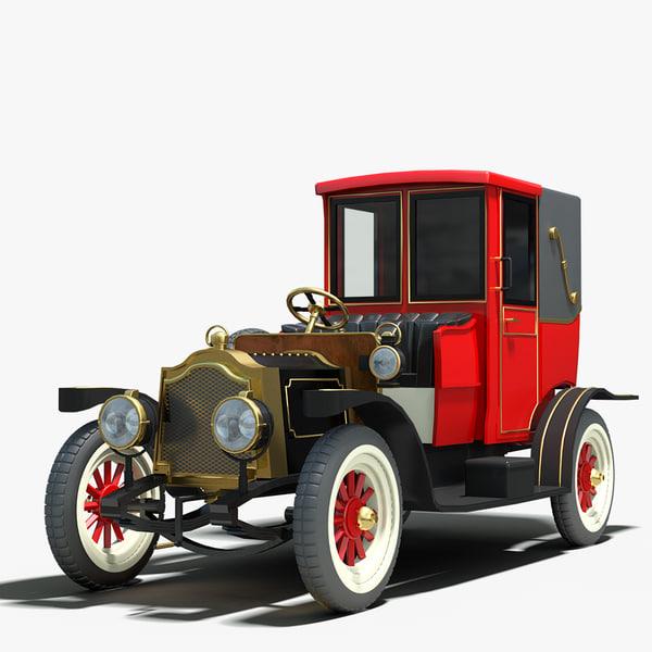 3ds max 1912 packard landaulet vintage car