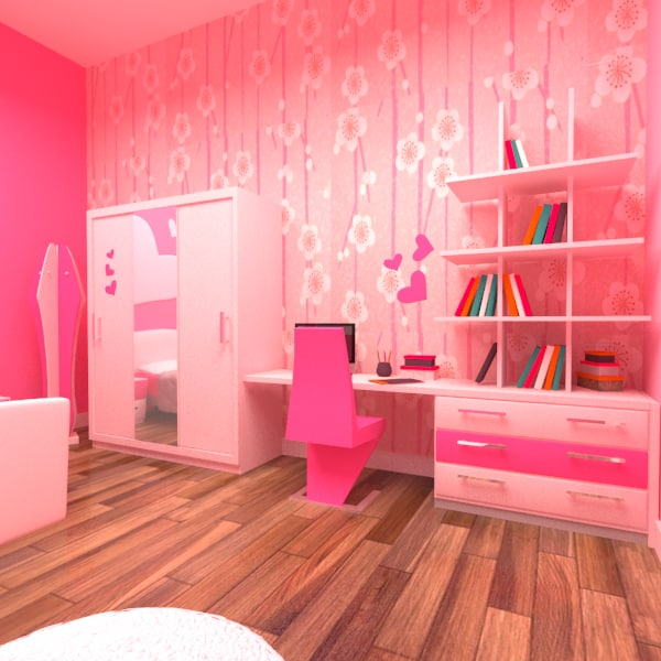 max cartoon girl room