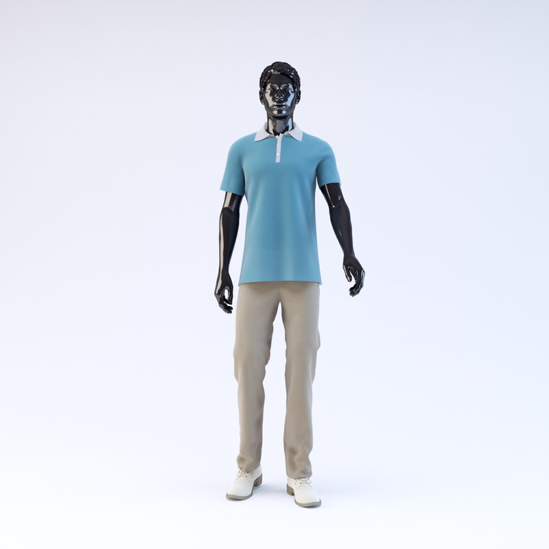 3ds max showroom mannequin male 013
