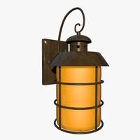 3d model outdoor lantern