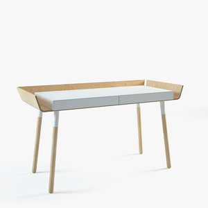 3d model inesa writing desk