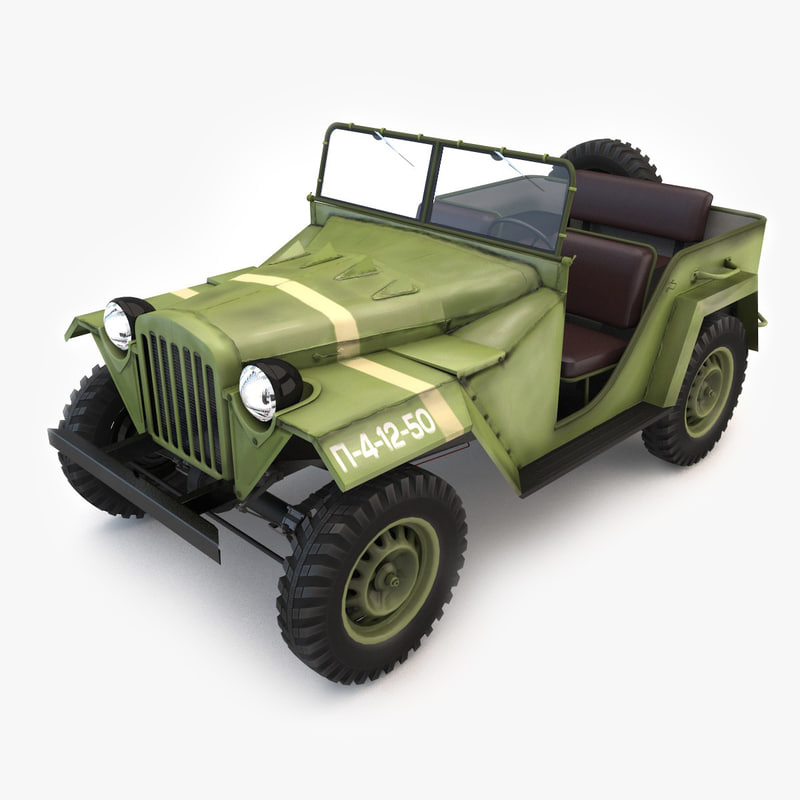 3d russian gaz 67 model