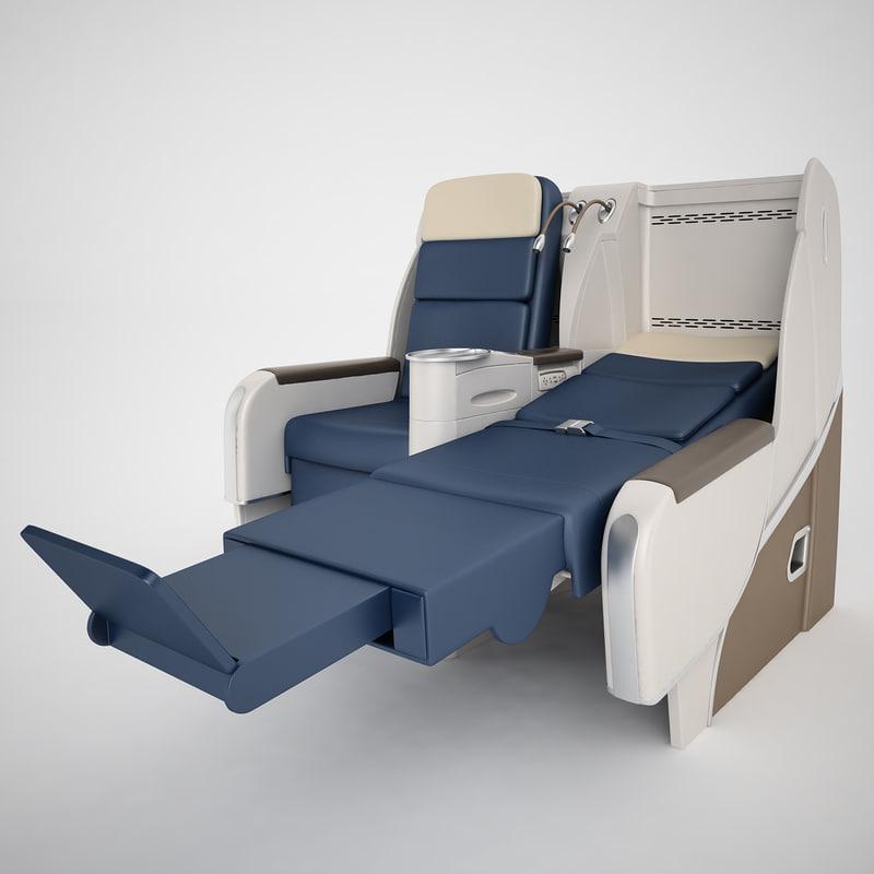air france seat 3d max