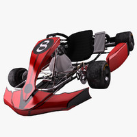 3d model racing go-kart