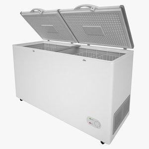 3d model of chest freezer freeze