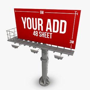 billboard 48 sheet 3d model