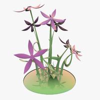3d glass flower model