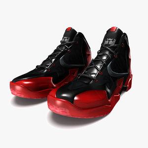 3d lebron james 11 shoes model