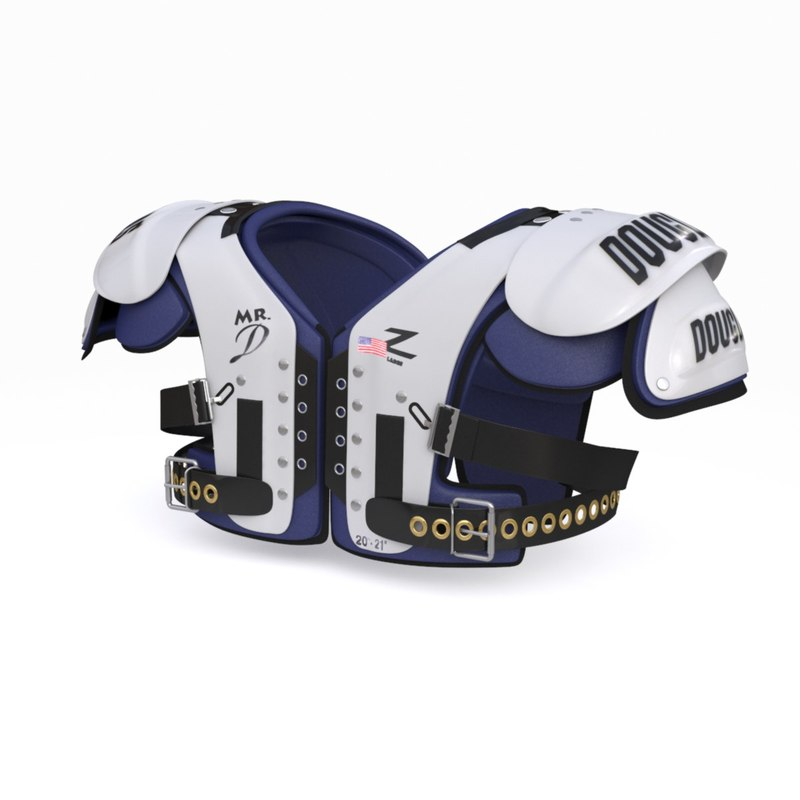 3d model football shoulder pads