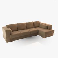 3dsmax realistic sofa yacht