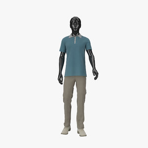 showroom mannequin male 013 3d max