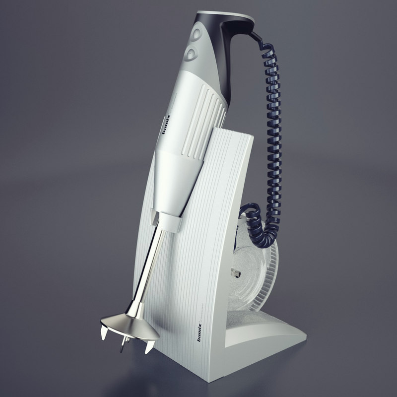 photoreal hand blender bamix 3d model