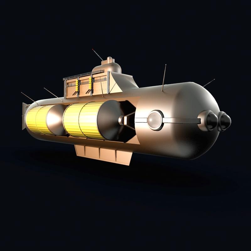 3ds fantasy submarine steampunk