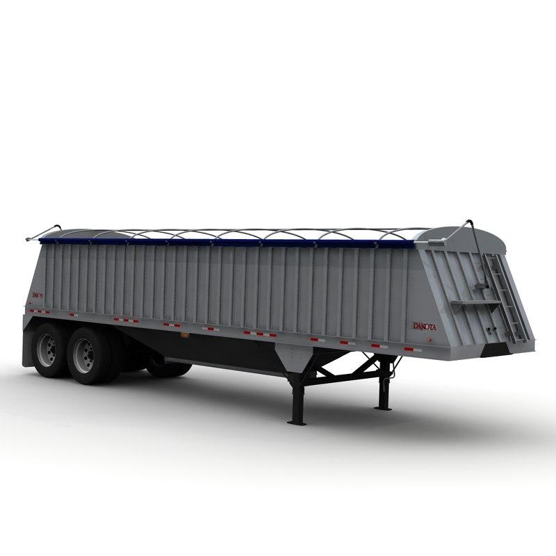 3d dakota 34ft grain trailer