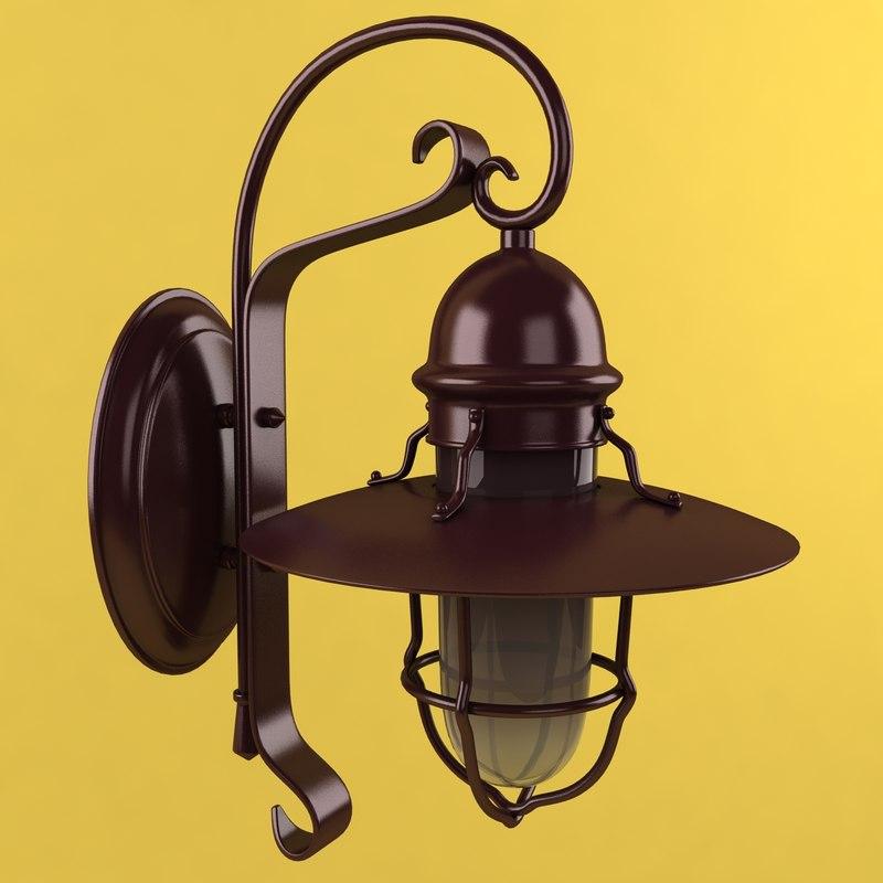 3d wall lantern model