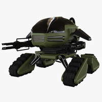 3d model sci-fi military robot
