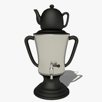 samovar teapot 3d 3ds