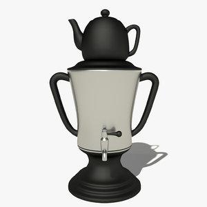 samovar teapot 3d 3ds