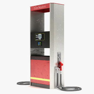 3d model gas pump 4