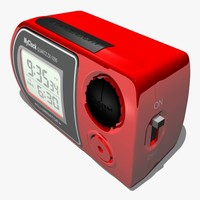 digital alarm clock 3d model