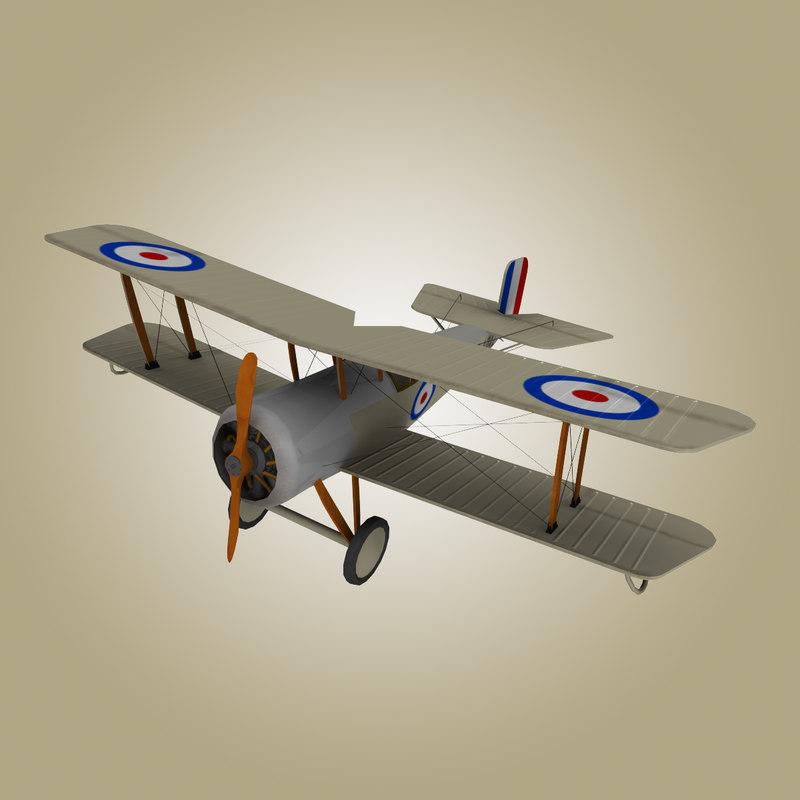 3dsmax bristol scout aircraft