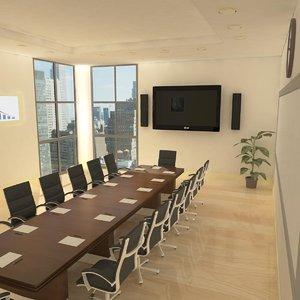 interior conference room 3d ma