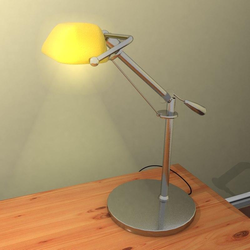 realistic desk lamp light 3d max