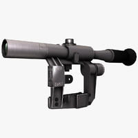 3d model optical sniper sight