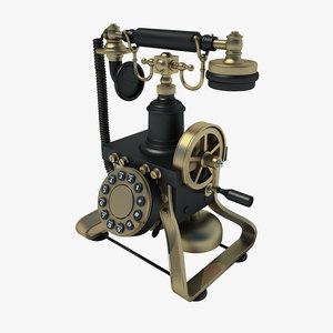 3d retro phone model