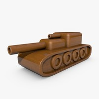 Wooden Toy Tank