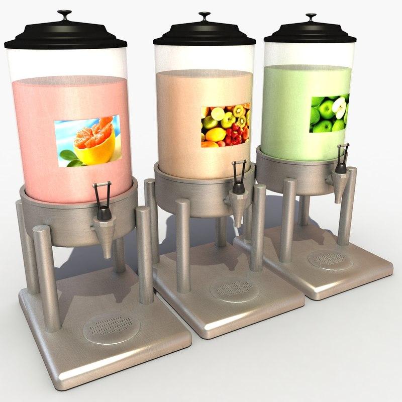 juice dispenser 3d model