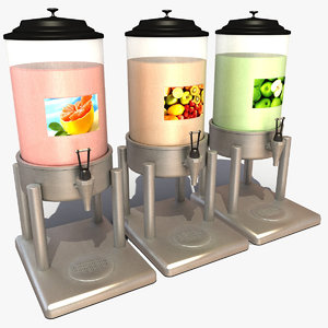 juice dispenser 3d model
