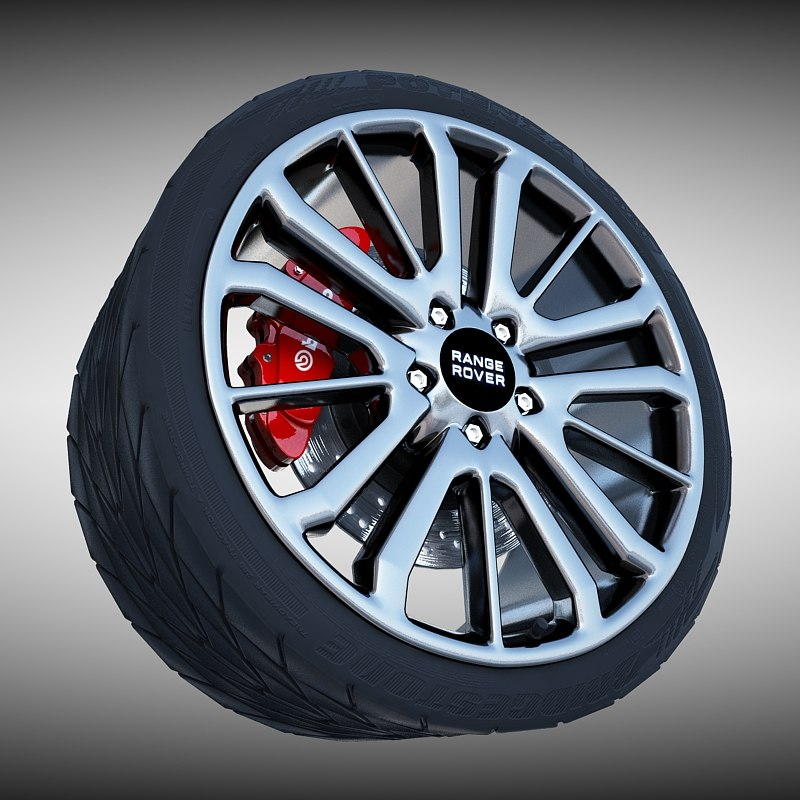 3d range rover wheel tire